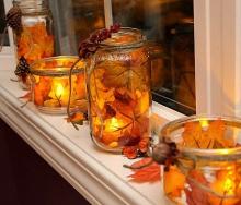 Осенний декор металлопластиковых окон